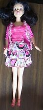 Disney Matel black curly hair new pink clothing & pink high heels