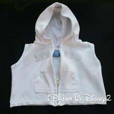 Build-A-Bear LIMITED TOO WHITE HOODED SWIM COVER-UP Teddy Clothes