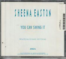 SHEENA EASTON YOU CAN SWING IT US CD PROMO SINGLE 1991 MCA RECORDS CD45-1493