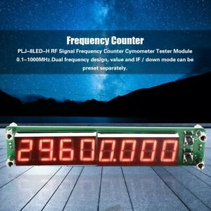 0.1MHz~2400MHz Frequency Counter 2.4 GHz Frequency Meter Cymometer PLJ-8LED-H