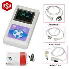 Contec Oled Fingertip Pulse Oximeter Cms60d Adultchildneonatal Probe Us Newest