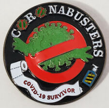 Coronabusters Ghostbusters Glow in the Dark NYPD Police Challenge Coin