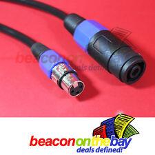 1M 1 Meter Australian Made Speaker Link Adapter Cable Speakon to XLR Female