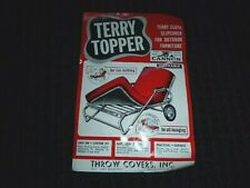 NOS Vtg 50s Cannon Terry Topper Chaise Lounge Red Cloth Cushion Cover Slipcover