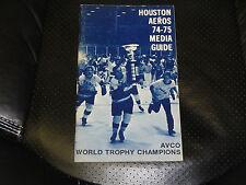 1974-75 HOUSTON AEROS WHA MEDIA GUIDE EX GORDIE HOWE