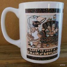 "Mary Englebreit Mug  3.75"" ""Life is just a chair of bowlies"""