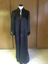 Vintage Sz M Coat Dress Coat Evening Wear Sequence Satin Fashion Forward Elogant
