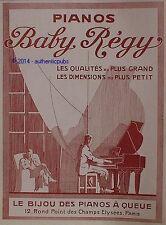 PUBLICITE BABY REGY LE BIJOU DES PIANOS A QUEUE ART DECO DE 1928 FRENCH AD RARE