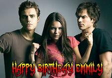 VAMPIRE DIARIES Personalised Happy Birthday Xmas Greeting TV Art Card Damon GOTH