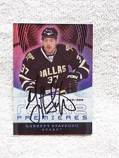 Dallas Stars Garrett Stafford Signed 08/09 Trilogy Rookie Auto Card #/999
