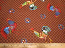 Jim Shore Animal Parade Rooster Toss Cotton Fabric BTY
