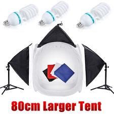 "32""80CM Photography Softbox Lighting Studio Cube Tent Soft Box Light Stand Kit"