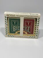 Bicycle Holiday Playing Cards in Tin with 2 Sealed Decks of Cards