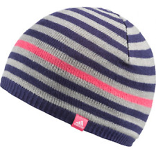 BNWT Adidas Climawarm Stripe Beanie Grey/Purple/Pink in Toddler/Children/Youth