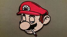 mario weed embroidered marijuana iron on pot patch