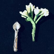 Sterling Silver Poirot posy flower holder pin vase Brooch men's Valentines gift