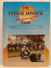 Vintage Japanese Motorcycle Club VJMC Newsletter Magazine Volume 18 #1 1999