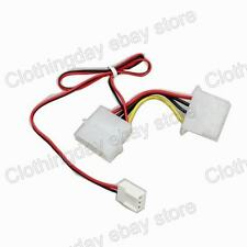 Computer PC 3 Pin Female to 4 pin PC Fan Power Transform Cable Wire