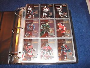 2003-04 ITG IN THE GAME ACTION HOCKEY SET 1-600 PLUS 53 DIFFERENT INSERTS (K217)