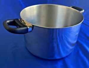 Vintage Revere Ware 6 Qt Stainless Steel Stock Pot Clinton Ill USA