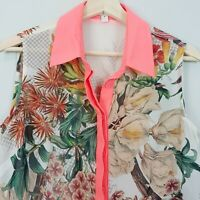 CAMEO | Womens Floral Print Oversized Blouse Top [ Size S or AU 10 / US 6 ]