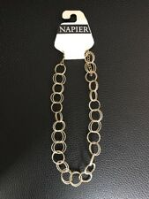 NWT Napier Statement Career Necklace Gold Hoops Circular