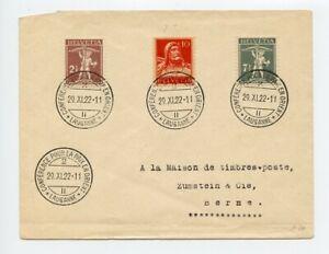 Switzerland 1922 Commemorative Cover Conference Pour La Paix En Orient