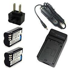 Charger + 2x 7.2v Li-ion Battery for Olympus BLM-1 PS-BLM1 E-1 E-3 E-30 E-520