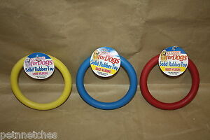 CLASSIC SOLID RUBBER RING DOG TOY SMALL/LARGE