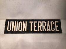 """Aberdeen Vintage Bus Destination Blind 60-70's 30""""- Union Terrace"""