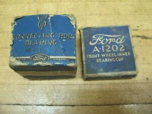 Vintage Antique OEM Ford Model T A Car Parts Boxes
