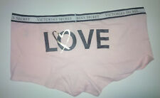 Victoria Secret Logo Waist Shortie Panty Millennial Pink LOVE Graphic sz M