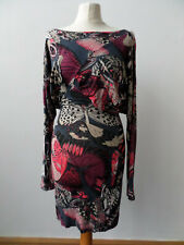 French Connection Body Con Dress Multicolour / Butterfly Long- Sleeve Size 8