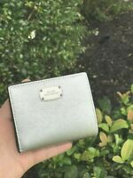 NWT MICHAEL KORS GIFTABLES FLAP CARD HOLDER CASE SMALL WALLET Silver