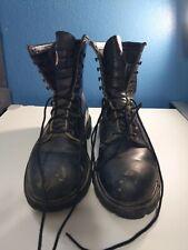VTG Red Wing Black Leather Steel Toe Boots Men's11 1/2 ANSIZ41PT99 MI/75 C/75 EH