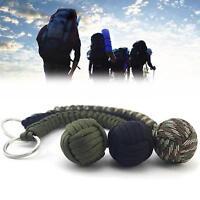 1PC Weaving Umbrella Rope Outdoor  Ball Key Ring Chain Fashion Bag Pendant