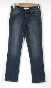 JUST JEANS Size 11 Womens Jeans Blue Mid Rise Straight Leg Stretch Denim Zip Fly