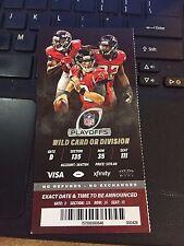 2017 Atlanta Falcons Vs Seattle Seahawks Nfc Playoff Game Ticket Stub 1/14