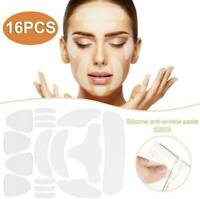 16Pcs Silicone Face Eye Forehead Anti Wrinkle Patches-Reusable Lifting Pads Set