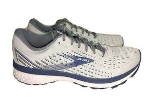 NEW Brooks Ghost 13 Running Shoe White/ Blue Men's 11.5 D, 1103481D161 MSRP $150