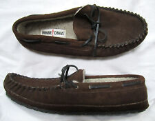 MINNETONKA Men's Casey Moccasin Slippers, size 10