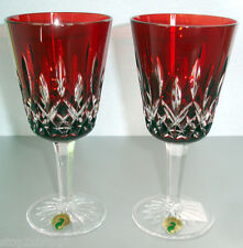 Waterford Lismore Goblet(s) Ruby Red SET/2 Cased Crystal 40000646 New In Box