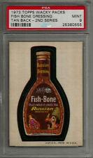 1973 Topps Wacky Packages Fish Bone Dressing 2nd Series Tan PSA 9 MINT Card