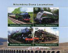 Madagascar 2018 CTO Steam Engines Locomotives 4v M/S Trains Railways Rail Stamps