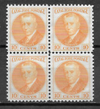 CANAL ZONE , US , 1928/40 , HODGES , BLOCK OF 4 10c STAMP , PERF , MNG