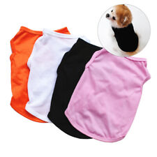 Summer Pet Simple Cotton Clothes Dog Vest Basic Puppy Apparel Solid ShirtCosplay