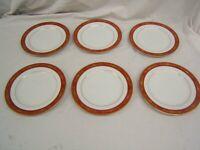 "Lot of 6 Noritake Goldhill Salad Plates 8"" Diameter #6613 Japan VGC"