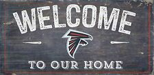 "Atlanta Falcons Welcome to our Home Wood Sign - 12"" x 6""  Decoration Gift"