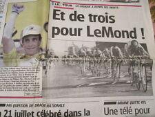 VELO : 3ème VICTOIRE AU TOUR DE FRANCE POUR GREG LEMOND 23/07/1990 + 24H SPA -DH