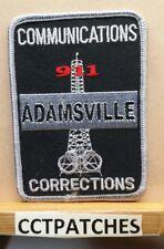 ADAMSVILLE, ALABAMA COMMUNICATIONS CORRECTIONS (POLICE) SHOULDER PATCH AL
